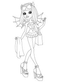 free printable monster high coloring pages rochelle goyle swim