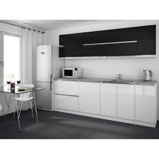 cuisine noir et blanc laqué cuisine equipee noir et blanc moderna complete 260 cm lzzy co