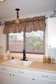 Linen Valance Decorations Burlap Window Treatments For Cute Interior Home