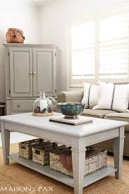 Painted Coffee Table Gray Chalk Paint Coffee And Side Table Maison De Pax