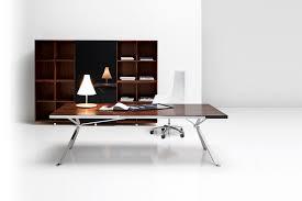 Modern Executive Office Table Design Executive Desk Wooden Metal Laminate Revo Manerba