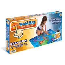 Asia Map Quiz Game by Amazon Com Push To Talk Kids World Map Learn Over 1000 Facts