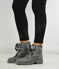 womens motorcycle boots uk womens ankle biker boots lace up bow zip buckle stud