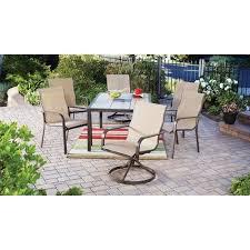 Sling Patio Dining Set Mainstays Sling 7 Tile Top Outdoor Dining Set Beige
