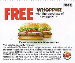 Old Country Buffet Coupon Buy One Get One Free by Burger King Your Restaurant Coupons