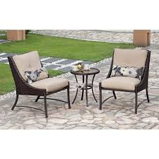 Savannah Outdoor Furniture by Savannah 3 Piece Metal And Woven Deep Seating Outdoor Bistro Set