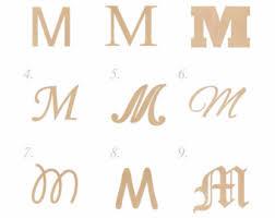 wooden letter m etsy