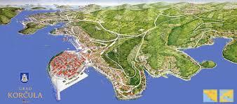 3d Map Of The World by Korcula Map Of Korcula Town Island Korcula Croatia