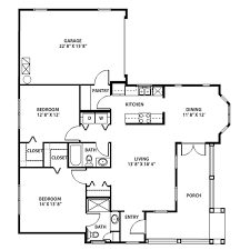 two bedroom cottage floor plans senior apartment floorplans the at gainesville