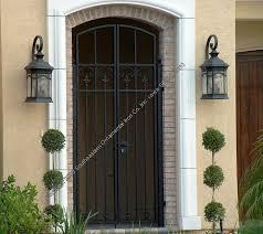 Front Door Security Gate by Doors Gates U0026 Custom Stained Garage Doors California