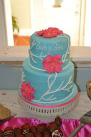coral baby shower cakes or something like that blue baby shower