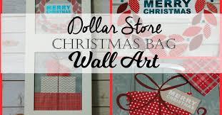 dollar store christmas gift bag wall art hometalk