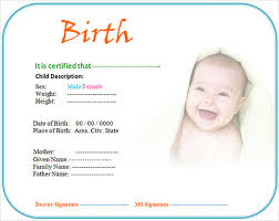 7 birth certificate templates u2013 free examples samples format