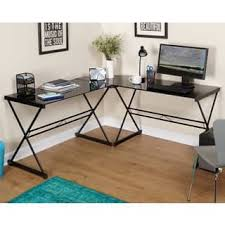 Quatrefoil Table L Glass Desks Computer Tables For Less Overstock