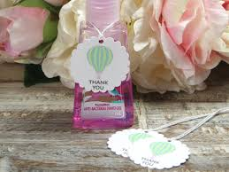 air balloon party baby shower favor tags hand sanitizer