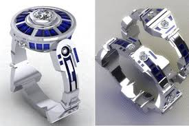 r2d2 wedding ring r2d2 engagement and wedding rings