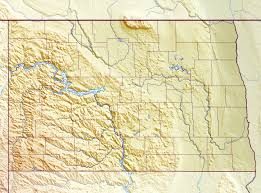 Large Map Of The United States by Large Relief Map Of North Dakota State North Dakota State Usa