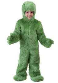 grinch halloween costumes toddler green furry jumpsuit
