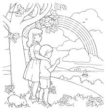 primary coloring page children and rainbow ldsprimary best of