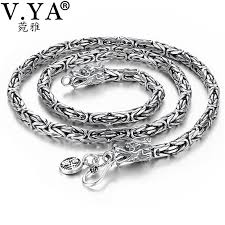 real silver necklace images 2018 v ya punk style real silver dragon necklace men chain 925 jpg