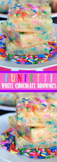 funfetti white chocolate brownies seconds