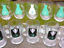 wedding gift groomsmen set of 8 bridesmaid wine glasses or groomsmen idealpin