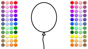 learn to color for kids and color many balloons coloring page