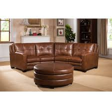 austin top grain leather sectional with ottoman curved sectionals leather sofas roselawnlutheran