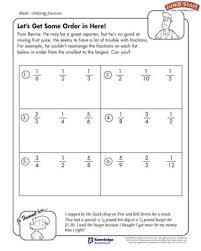 let u0027s get some order in here u2013 fractions worksheets for kids