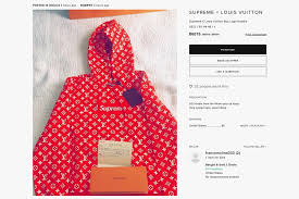 supreme x louis vuitton absurd resell prices hypebeast