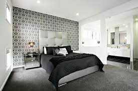Bedroom Wonderful Black And White Bedroom Decoration With - Feature wall bedroom ideas