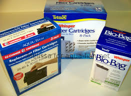 types of aquarium filter cartridges
