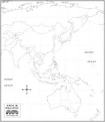 India Political Blank Printable Map by Free Map Of Asia Oceania