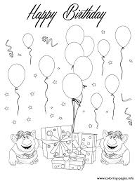 trolls happy birthday coloring pages printable