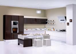 Designer Modular Kitchen - sleek modular kitchen magnificent home security decoration by