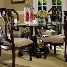60 round glass dining table impressive wellingsley 60 round glass top single pedestal dining