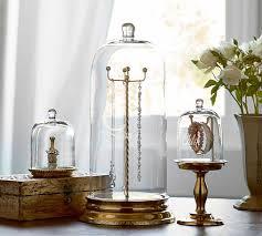 necklace storage display images Glass cloche jewelry storage pottery barn jpg