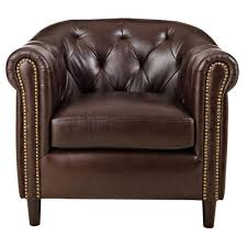 home decorators collection warin chocolate leather club chair