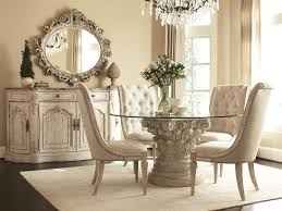 living room round glass dining table with metal base beadboard