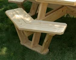 treated pine octagon walk in picnic table