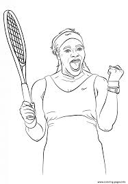 serena williams coloring pages printable