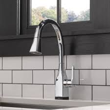 touch kitchen faucet delta mateo pull touch single handle kitchen faucet with and