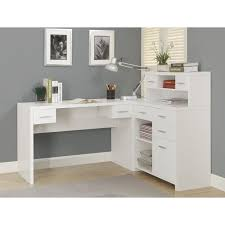 Desks L Shape Monarch Hollow L Shaped Home Office Desk White Hayneedle