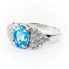 harga cincin jewelry cpw022 cincin blue topaz cincin perak wanita ruby harga rp