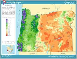 map of oregon nevada precipitation map for oregon classbrain s state reports