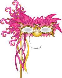 pink mardi gras mask image a pink mardi gras mask