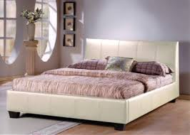 hamburg 4ft 6 cream faux leather double bed 199 99