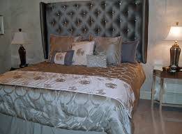 bedroom luxurious tall tufted headboard for amazing bed tall