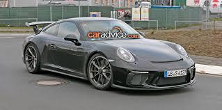 porsche 911 facelift 2017 porsche 911 gt3 facelift spied at the nurburgring