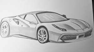 ferrari black drawn ferrari black and white pencil and in color drawn ferrari